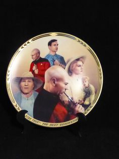 """Fans of Seth MacFarlane's 'Family Guy' will understand why I like this collector's plate.  """"Show me... Picard's Flute!""""  Star Trek The Next Generation Commemorative plate for sale by SciFiTastic on Etsy."""