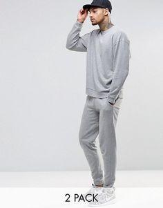 ASOS Oversized Sweatshirt/ Skinny Jogger Set Grey Marl SAVE 17% £32.00 @ Asos