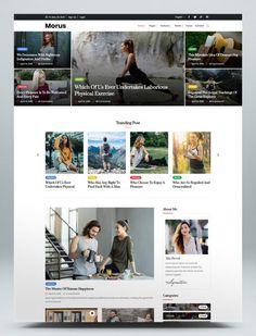 Personal Blog Website HTML Template Html Website Templates, Physical Fitness, Teaching, Explore, Blog, Blogging, Education, Onderwijs, Exploring