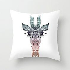 GiRAFFE Throw Pillow by Monika Strigel - $20.00