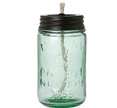 "Lamp"" Citronella oil on a jar ! Double use as keeping away flies"