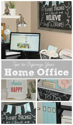 Lots of tips to organize your home office space from Clean and Scentsible.