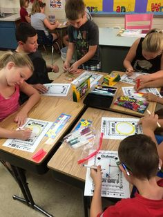 We are coloring our dots for #dotday - we will use these with the @quivervision app