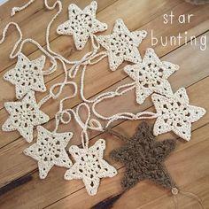 Image result for crochet star garland