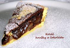 Unavená vařečka: Koláč - hrušky a hořká čokoláda