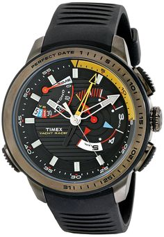 Timex Men's TW2P44300DH Intelligent Quartz Yacht Racer Analog Display Analog Quartz Black Watch