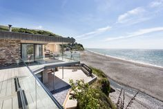 A luxury beach house in Seaton, Cornwall offering sea views, private hot tub and swimming pool Outdoor Swimming Pool, Swimming Pools, Beach Houses For Sale, Clad Home, Outdoor Steps, Log Fires, Local Pubs, 4 Bedroom House, Entrance Gates