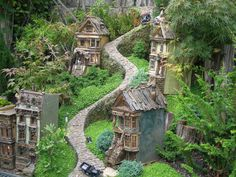 Whimsical town for Fairies, Elves, Gnomes all sprinkled w/ pixie dust