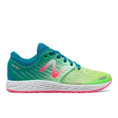 Fresh Foam Zante v3 Kids Grade School Running Shoes - Pink/Green (KJZNTGXG)