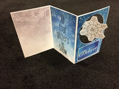 Another view of the Christmas card made from the Snowflake Ridge collection from Reminisce.