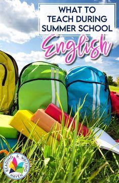 English Language Arts summer school curriculum ideas...start here! #SummerSchool #HighSchoolELA English Summer School, High School English, Summer School Programs, Curriculum Mapping, Reading Comprehension Skills, English Language, Language Arts, Teaching, English Classroom
