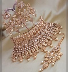 Excited to share this item AMANII Crystal Collection: Bridal & Wedding Jewellery. - Excited to share this item AMANII Crystal Collection: Bridal & Wedding Jewellery sets Bridal Jewellery Inspiration, Indian Bridal Jewelry Sets, Indian Jewelry Earrings, Jewelry Design Earrings, Wedding Jewelry Sets, Bridal Accessories, Bridal Jewellery Collections, Indian Accessories, Jewelry Ideas