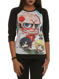 Attack On Titan Chibi Fight Girls Pullover Top