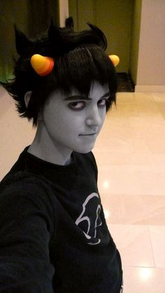 this is one of my all time favorite karkat cosplays. there tumblr URL is krazorspoon . Also see their cosplay group ditjykotchinc