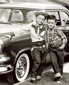 Urban cowboys kids in cowboy outfits 50's. (please follow minkshmink on pinterest)