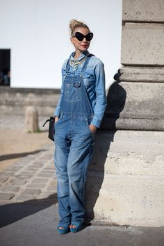 STREET STYLE SPRING 2013: PARIS FASHION WEEK - It's an overalls moment.