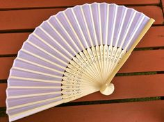 25 White Silk Wooden Hand Fans for weddings, parties, outdoor events, DIY place cards