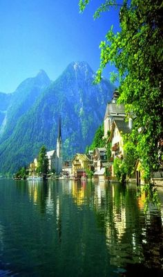 Aldeia Hallstatt na Áustria