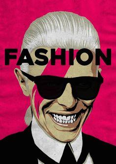 El ilustrador brasileño Butcher Billy ha querido rendir homenaje al músico David Bowie (1947/2016) creando una serie de carteles en los que asocia canciones suyas con diversos personajes icónicos de la cultura pop. Más sobre los trabajos de Butcher B
