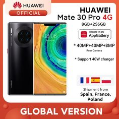 Global Version HUAWEI Mate 30 Pro 8GB 256GB Smartphone 40MP Triple Cameras 32MP Front Camera 6.53'' Inch Kirin 990 Mate 30 pro Huawei mate 30 pro fundas,huawei mate 30 pro,huawei mate 40 pro,huawei mate 20 pro,huawei mate 20 lite,huawei mate 40,huawei mate 30,huawei mate 30 lite,huawei mate x pro,huawei mate 30pro,huawei mate p30 pro,