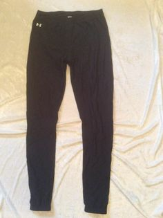 Under Armour Large Womens Pants Tights Leggings Black Running Ski Cold Gear