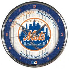 New York Mets Round Chrome Wall Clock (backorder)