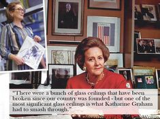 """""""There were a bunch of glass ceilings that have been broken since our country was founded - but one of the most significant glass ceilings is what Katharine Graham had to smash through."""" #MerylStreep #inherownwords #quotes #KatharineGraham"""