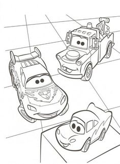 Drawing of cartoon mator mater coloring pages lightning mcqueen huge collection of cars - Coloriage cars toon ...
