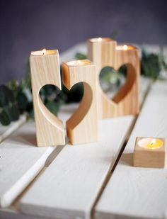 Candle Holder Wooden Rustic Candle Holders from Wooden Engraved Shop by DaWanda.com