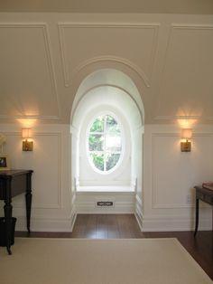 White oval window