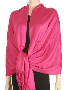 """80"""" X 28"""" Silky Soft Solid Pashmina Shawl / Wrap / Stole - HOT PINK by AK TRADING CO.. $5.99. Experience the soft luxurious feel of pashmina feel fashion neckwear. Get the look and feel of high end scarves at an affordable price. Choose from our complete collection of colors and patterns, you will find a style perfect for any occasion."""