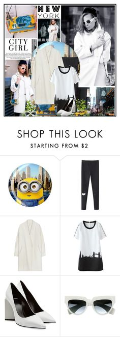 """""""New York City Girl"""" by katik27 ❤ liked on Polyvore featuring Børn, H&M, Pierre Hardy, Prada, TAXI, women's clothing, women, female, woman and misses"""