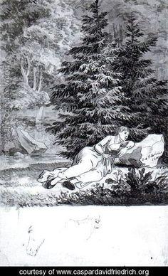 The Romantic Reader - Caspar David Friedrich - www.caspardavidfriedrich.org