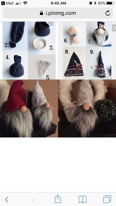 Gnomes Tomte Nisse Or Tonttu Easy Christmas Crafts, Christmas Gnome, Simple Christmas, Christmas Projects, Christmas Decorations, Christmas Ornaments, Scandinavian Gnomes, Scandinavian Christmas, Gnome Ornaments
