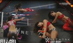 Wwe Diva Nikki Bella Nip Slip From Hell In A Cell Celebs Celebrities Wrestling