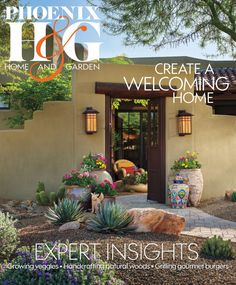 Easy Desert Landscaping Tips That Will Help You Design A Beautiful Yard Front Yard Landscaping, Backyard Landscaping, Landscaping Ideas, Landscape Design, Garden Design, Desert Landscape, Phoenix Homes, Kitchen Design Open, Santa Fe Style