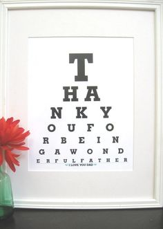 Father of the Bride Gifts Thank you for being a by Eyecharts, $15.00 themarriedapp.com hearted <3