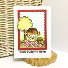 YNS Supplies: Picnic Phoebe stamp set | Picnic Phoebe die set