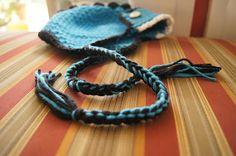 crochet hat, earflap hat, hat patterns, tassel instruct