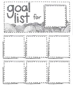 Printable Goal List using post-it