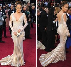 Jennifer Lopez In An Zuhair Murad Gown At The 2017 Academy Awards Deco Weddings Vintage Inspired Red Carpet