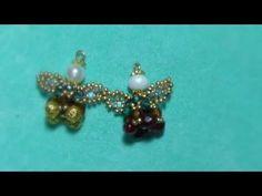 DIY tutorial angelo di natale con ali di perline handmade beadwork Angel Christmas portachiavi - YouTube