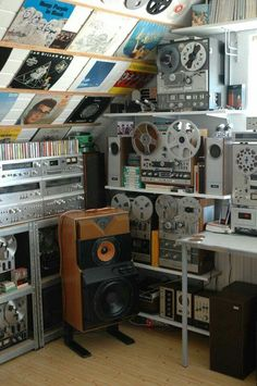 Vintage audio music listening room