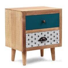 Vaše DEDRA - oficiální stránky - Noční stolek ELEGANT se 2 šuplaty