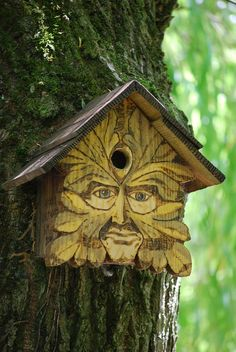 Green Man birdhouse
