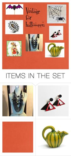 """""""Vintage for halloween"""" by underlyingsimplicity ❤ liked on Polyvore featuring art and vintage"""