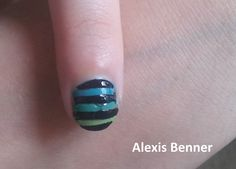 faded blue with black stripes