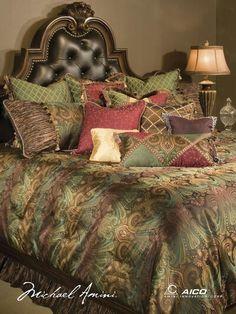 Croscill Galleria Red Comforter Set Queen Sheets Bedding - Croscill galleria king comforter set