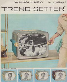"""""""Trendsetter"""" Zenith portable TV, 1955"""