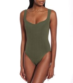 Athena Nile green swimsuit Hunza G, Green Swimsuit, Luxury Fashion, Womens Fashion, Swimsuits, Swimwear, Street Style Women, Tights, Bodysuit